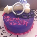 Canadian-Chained-wedding-ring-dick-on-personal-cake